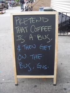 brooklyn coffee shop sign