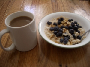 pre-run oatmeal breakfast