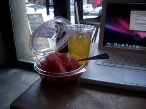 watermelon and green tea