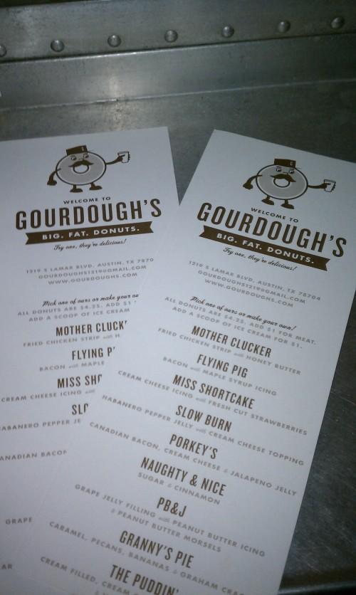 Gourdough Menu