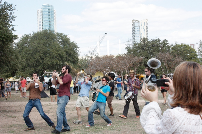 Hipster Marching Band in Austin